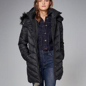 Abercrombie Black Puffer Coat